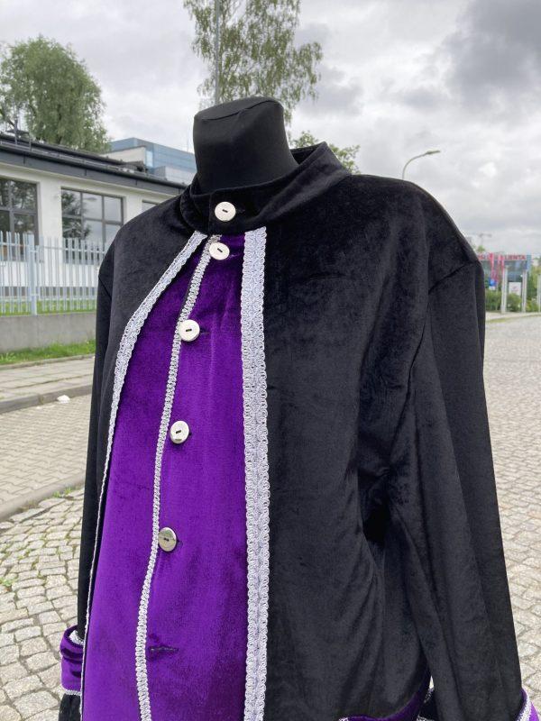 Kontusz szlechecki stroj barokowy czarno fioletowy L 4