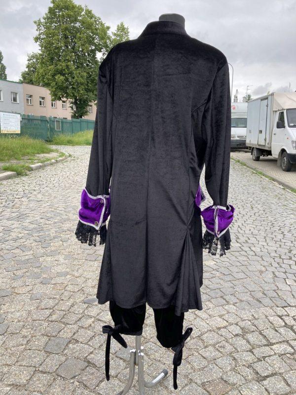 Kontusz szlechecki stroj barokowy czarno fioletowy L 6