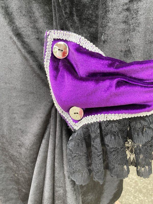 Kontusz szlechecki stroj barokowy czarno fioletowy L 7