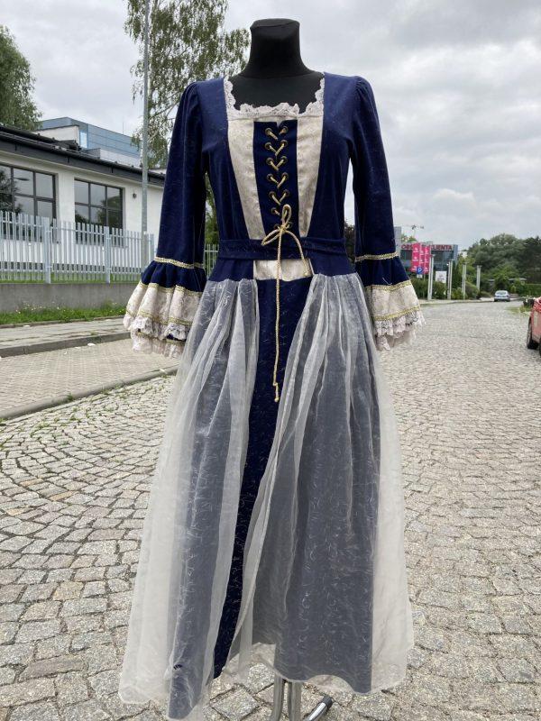 Szlachcianka granatowa kostium damski 1