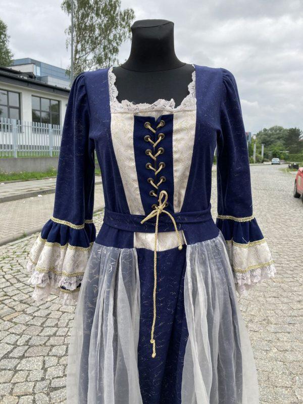 Szlachcianka granatowa kostium damski 2