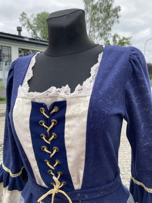 Szlachcianka granatowa kostium damski 4